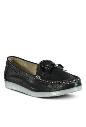 Marjin Gana Düz Ayakkabı Siyah