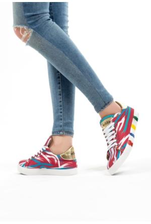 Erbilden Bordo Kadın Bez Spor Ayakkabı