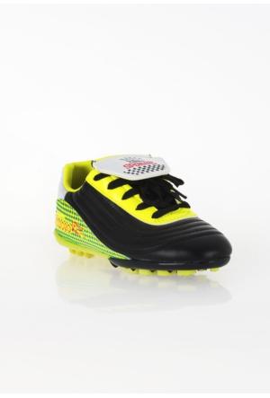 Erbilden Spr Siyah Sarı Desenli Erkek Halı Saha Ayakkabısı
