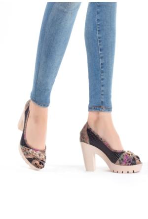 Erbilden Tua Tokalı Kadın Platform Topuklu Ayakkabı