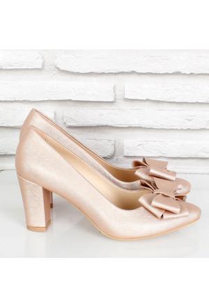 Oc Pudra Prada Fiyonklualçak Topuk Kadın Ayakkabı 081