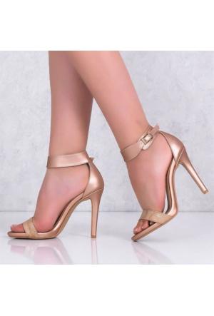 Lonar Puda İnce Topuklu Kadın Ayakkabı 502