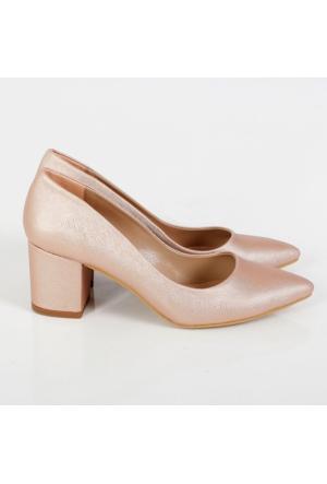 Oc Pudra Prada Kalın Topuk Kadın Ayakkabı Cv100