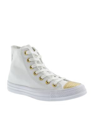 Converse Chuck Taylor All Star Hi Kadın Beyaz Ayakkabı 555813C