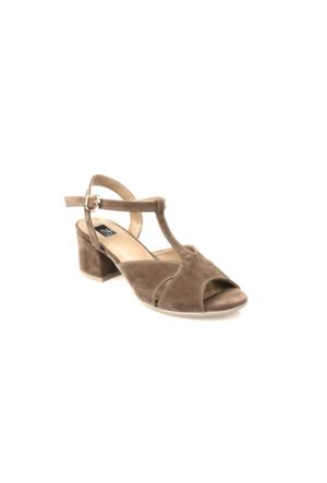 Ziya Kadın Sandalet 71128 6019 Vizon