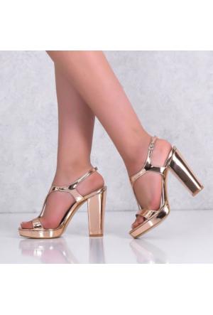 Marcoferretti Rose Kalın Topuklu Kadın Ayakkabı 613 Kt10