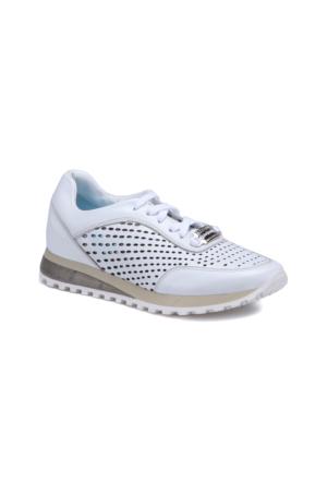 Butigo 2690/05 Beyaz Kadın Deri Sneaker Ayakkabı