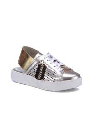 Butigo 2965/01 Altın Kadın Deri Sneaker Ayakkabı