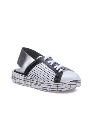 Butigo 2965/01S Gümüş Kadın Deri Sneaker Ayakkabı