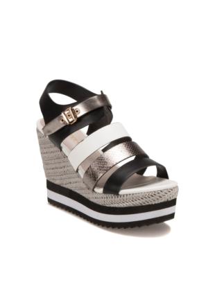 Butigo S1104 Siyah Antrasit Kadın Sandalet