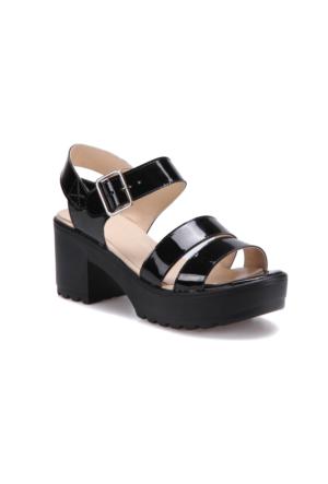 Butigo S803 Siyah Kadın Sandalet