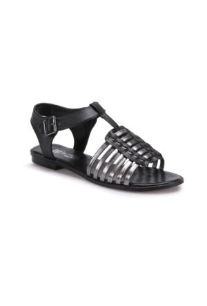 Butigo S938 Siyah Antrasit Kadın Sandalet