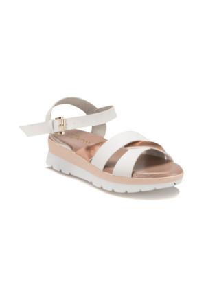 Butigo S947 Beyaz Bronz Kadın Sandalet