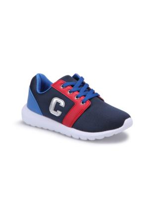 I Cool Talisca Lacivert Kırmızı Saks Erkek Çocuk Spor Ayakkabı