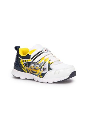 Minions Konan Beyaz Erkek Çocuk Spor Ayakkabı