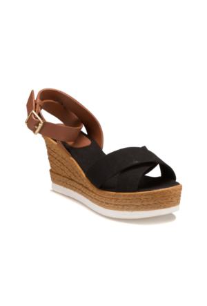 Miss F Ds17080 Siyah Kadın Sandalet