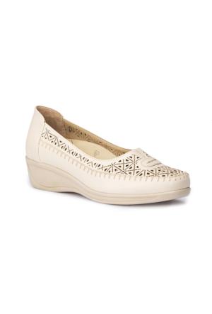 Polaris 5 Nokta 71.109603.Z Bej Kadın Dolgu Topuk Ayakkabı