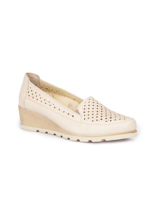 Polaris 5 Nokta 71.109607.Z Bej Kadın Dolgu Topuk Ayakkabı