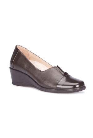 Polaris 5 Nokta 71.109628Rz Kahverengi Kadın Dolgu Topuk Ayakkabı