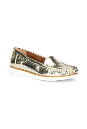 Polaris 71.157221.Z Altın Kadın Loafer Ayakkabı