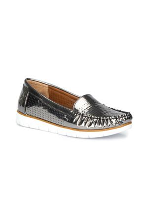 Polaris 71.157221.Z Antrasit Kadın Loafer Ayakkabı