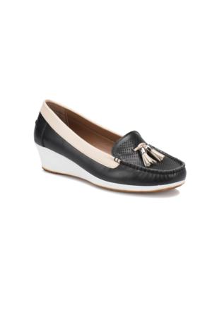Polaris 71.157257.Z Siyah Kadın Loafer Ayakkabı