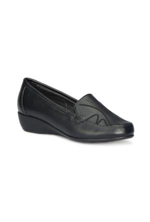 Polaris 71.157276.Z Siyah Kadın Dolgu Topuk Ayakkabı