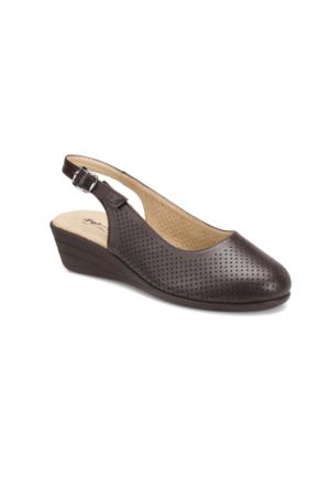 Polaris 71.157325.Z Kahverengi Kadın Dolgu Topuk Sandalet