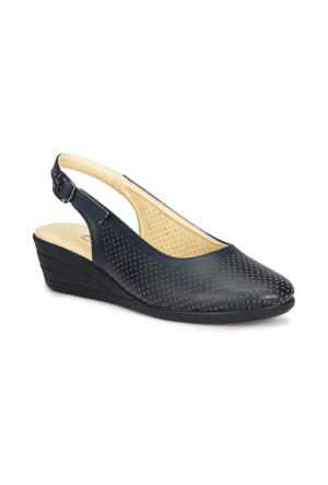 Polaris 71.157325.Z Siyah Kadın Dolgu Topuk Sandalet