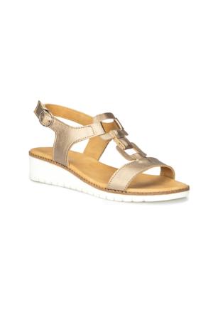 Polaris 71.157376.Z Altın Kadın Dolgu Topuk Sandalet