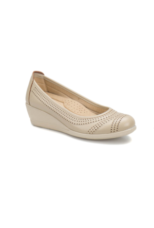 Polaris 71.157552.Z Bej Kadın Dolgu Topuk Ayakkabı