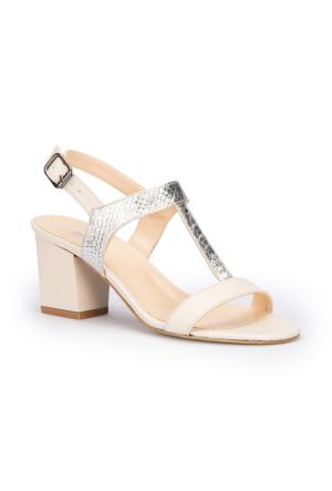 Polaris 71.309866.Z Bej Kadın Sandalet