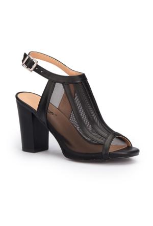 Polaris 71.309910.Z Siyah Kadın Sandalet