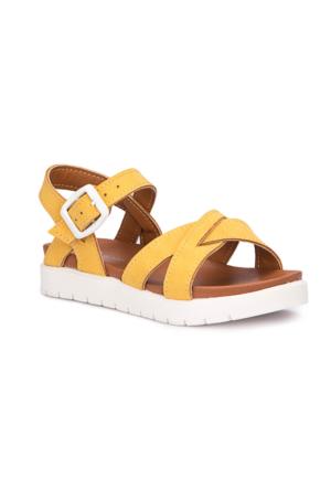 Polaris 71.508159.P Sarı Kız Çocuk Sandalet