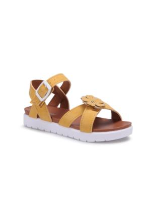 Polaris 71.509112.F Sarı Kız Çocuk Sandalet