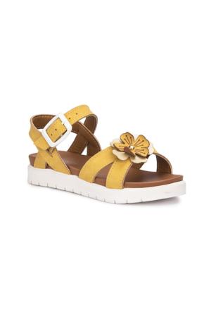 Polaris 71.509112.P Sarı Kız Çocuk Sandalet