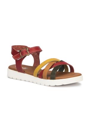 Polaris 71.509184.F Kırmızı Kız Çocuk Sandalet