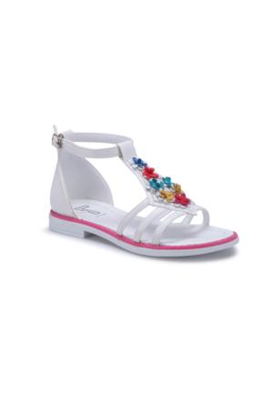 Seventeen Svs280 Beyaz Kız Çocuk Sandalet