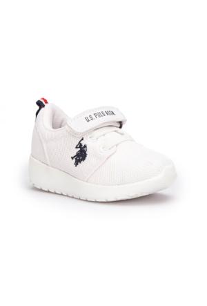 U.S. Polo Assn. Honey Beyaz Erkek Çocuk Sneaker Ayakkabı
