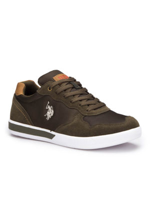 U.S. Polo Assn. Nash Haki Erkek Sneaker Ayakkabı