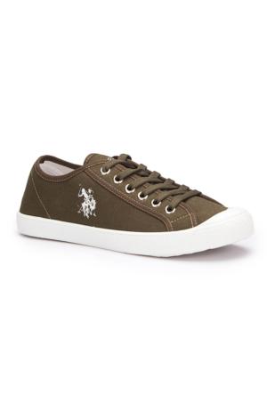 U.S. Polo Assn. Thron Haki Erkek Sneaker Ayakkabı
