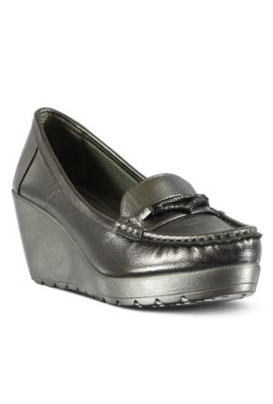 Marjin Nehal Dolgu Topuk Ayakkabı Gümüş