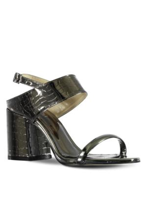 Marjin Okta Topuklu Ayakkabı Gümüş