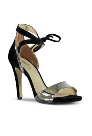 Marjin Tazi Topuklu Ayakkabı Gümüş