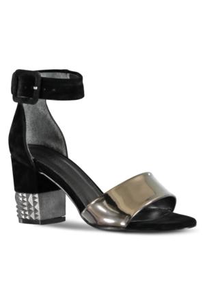 Marjin Mikan Topuklu Ayakkabı Gümüş