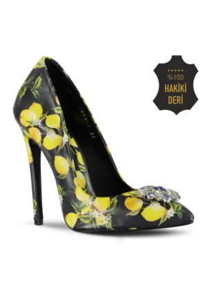 Marjin Nardi Topuklu Ayakkabı Sarı