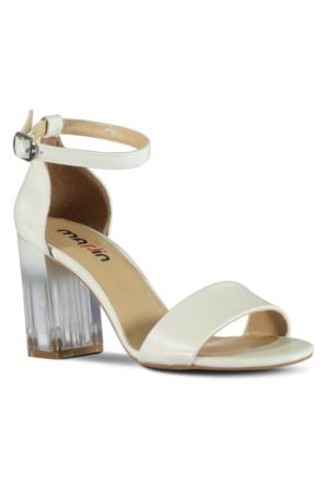 Marjin Masu Topuklu Ayakkabı Beyaz