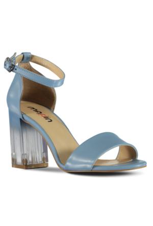Marjin Masu Topuklu Ayakkabı Mavi