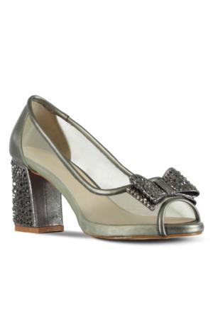 Marjin Raju Abiye Ayakkabı Gümüş
