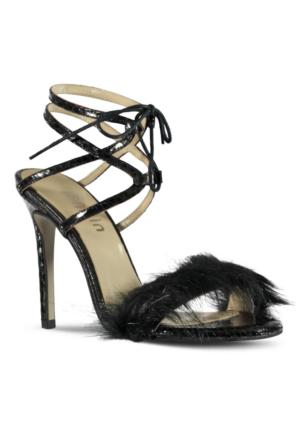 Marjin Kila Topuklu Ayakkabı Siyah